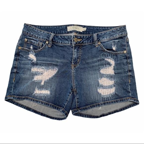 Torrid Distressed Denim Jean Shorts Size 12